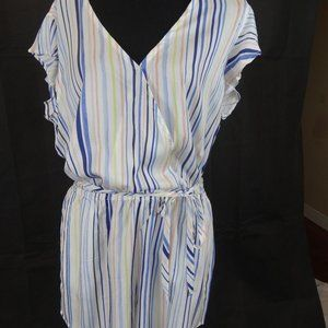 Bella Dahl Anthropologie Striped Romper Large